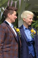 MRS AND MRS EASEY LADIES WEDDING SUITS