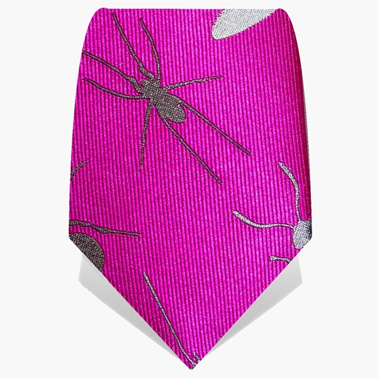 Silver Large Insect Tie