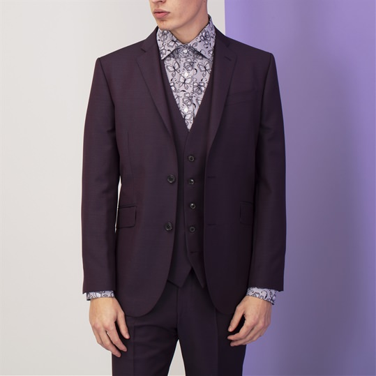 Purple Mohair and Wool Suit