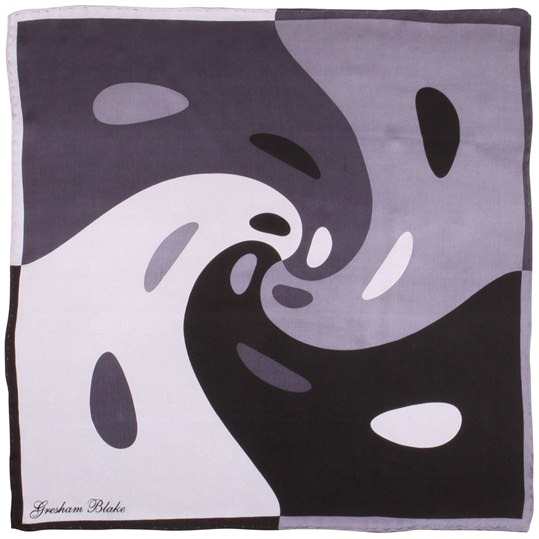 Black Swirl Pocket Square