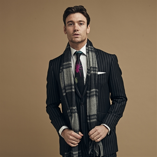 Classic Chalk Stripe 2 Piece Suit