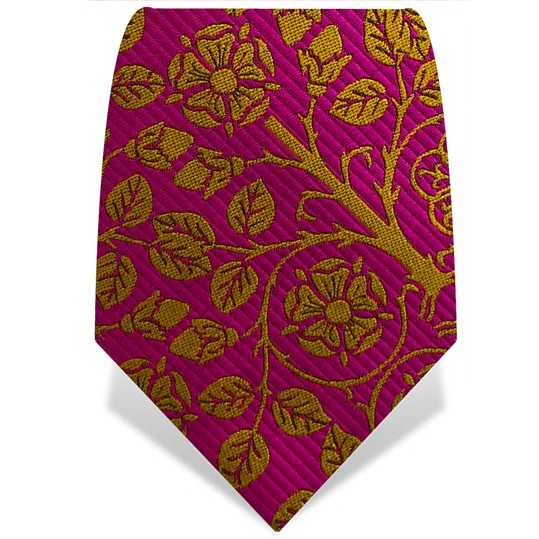 Pink & Orange Tudor Rose Tie