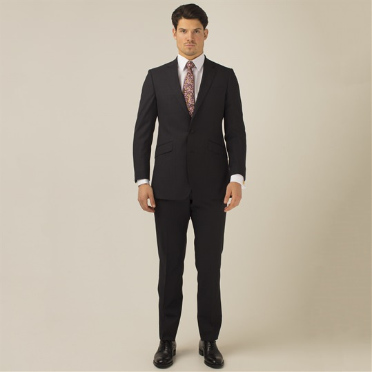 Dark Grey 2 Piece Wool Suit