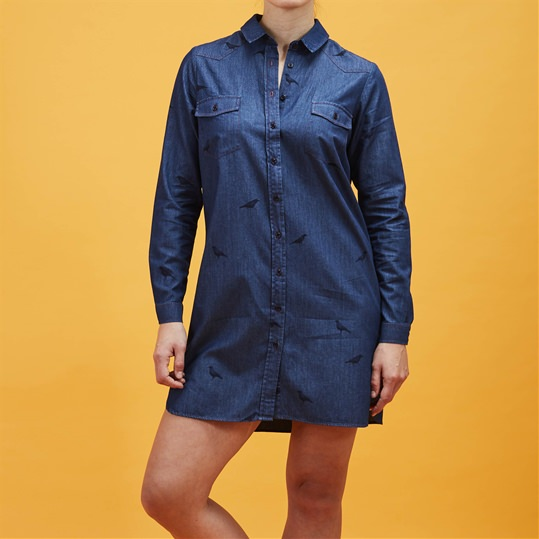 Crow Denim Shirt Dress