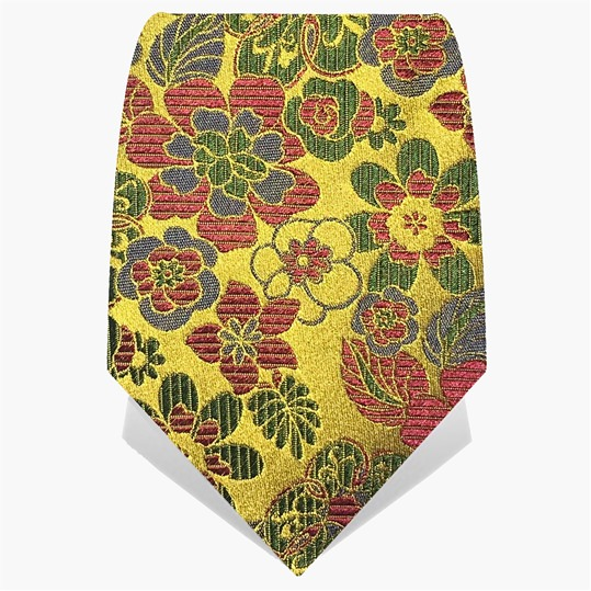 Yellow Floral Logo Tie