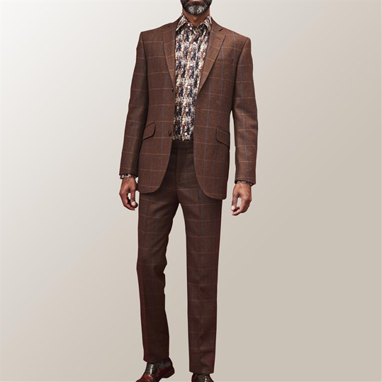 Brown Check Denver Suit