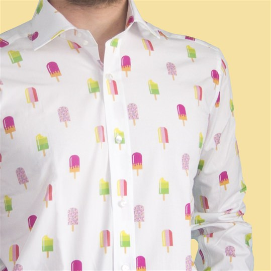White Fabtastic Ice Lolly Shirt