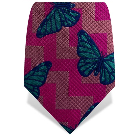 Pink & Turquoise Papillon Tie