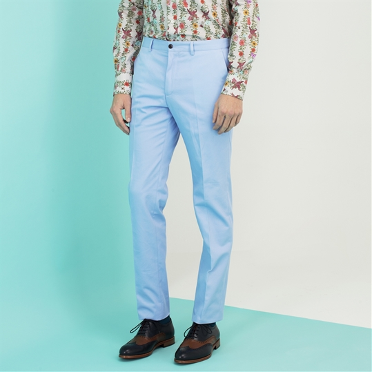 Pale Blue 'Dice' Chinos