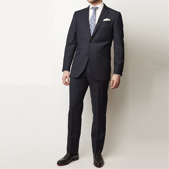 Navy Mohair 2 Piece Suit