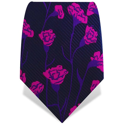 Purple & Pink Carnations Tie