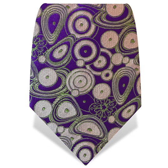 Purple & Green Circles Tie