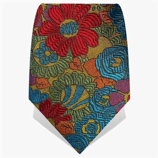Red & Orange Flower Power Tie