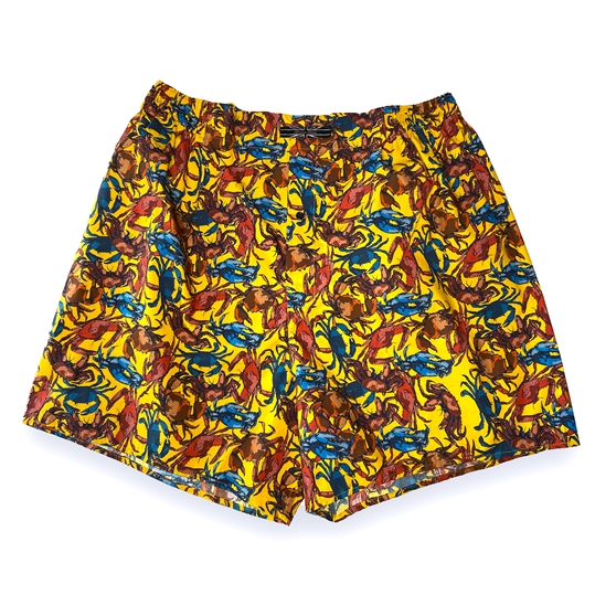 Yellow Crab Boxer Shorts