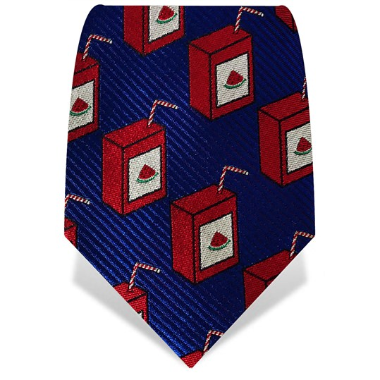 Navy & Red Watermelon Juice Tie