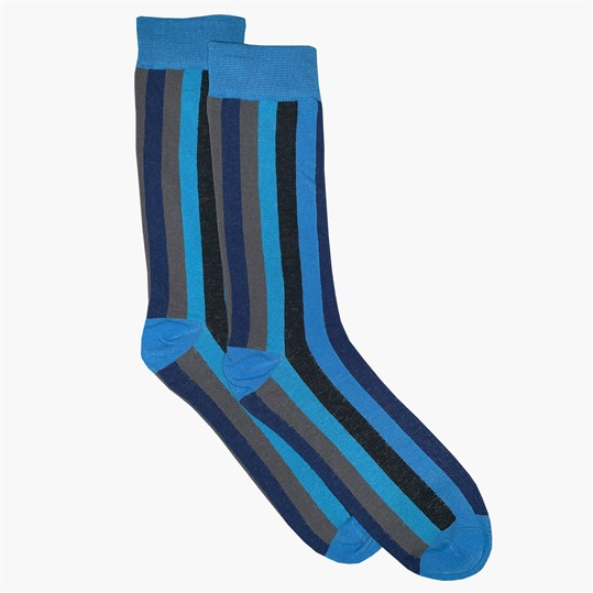 Blue Stripe Sock