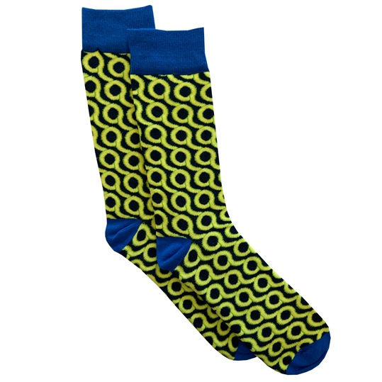 Navy & Green Loop Sock