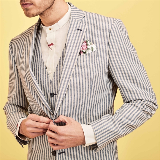 Henley' Blue Stripe Jacket