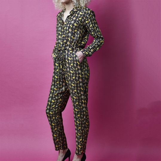 Womens Bling Print Jumpsuit
