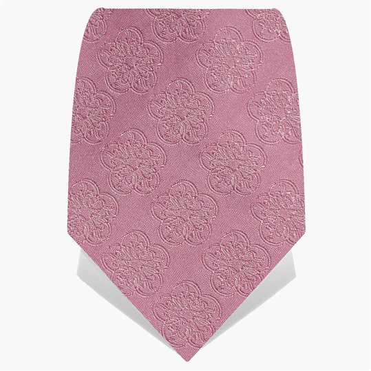 Baby Pink GB Logo Tie