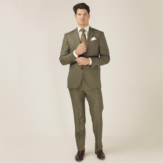 Ramsey Check 2 Piece Suit