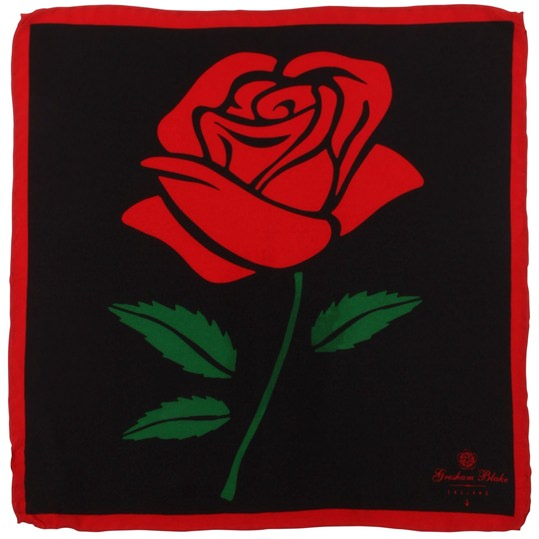 Black Rose Pocket Square