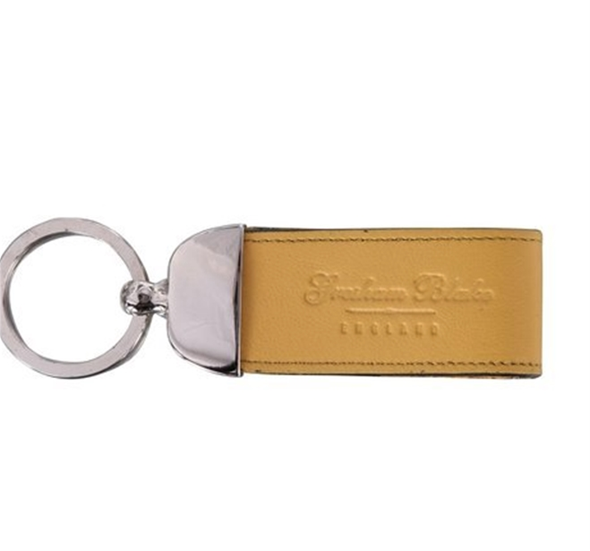 Yellow Leather Keyring