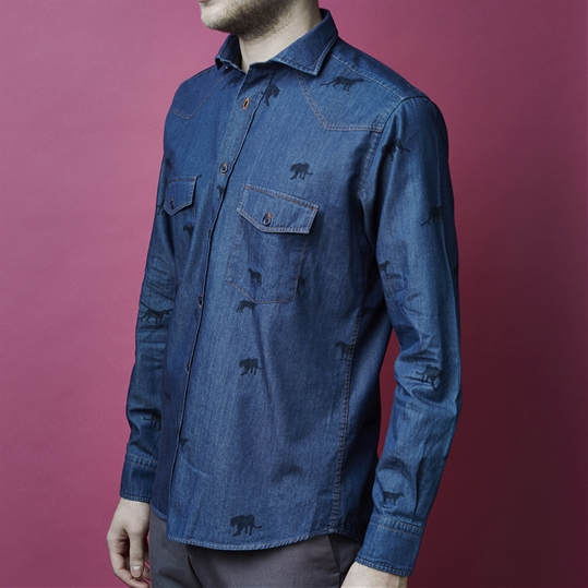 Denim Panther Shirt