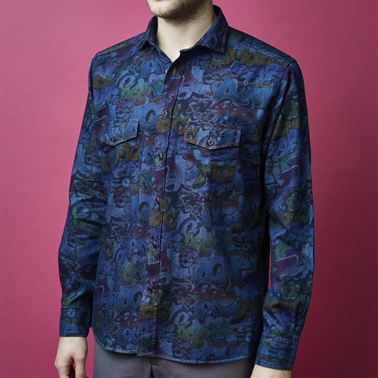 Denim Graffiti Shirt