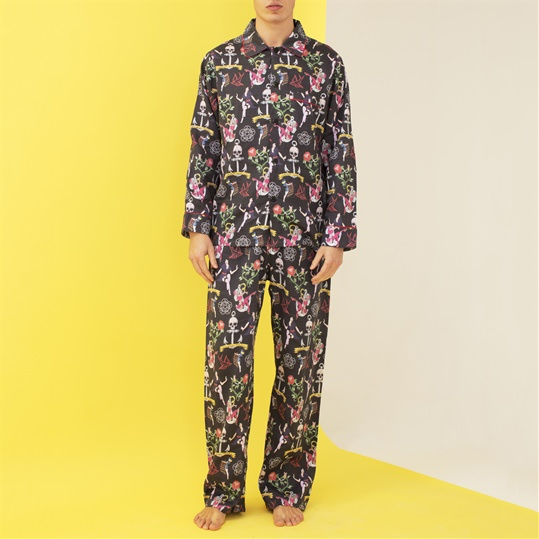 Tattoo Print Mens Pyjamas