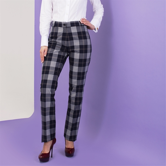 Ladies Klinsey Check Trouser