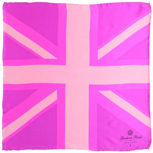 Pink Union Flag Pocket Square