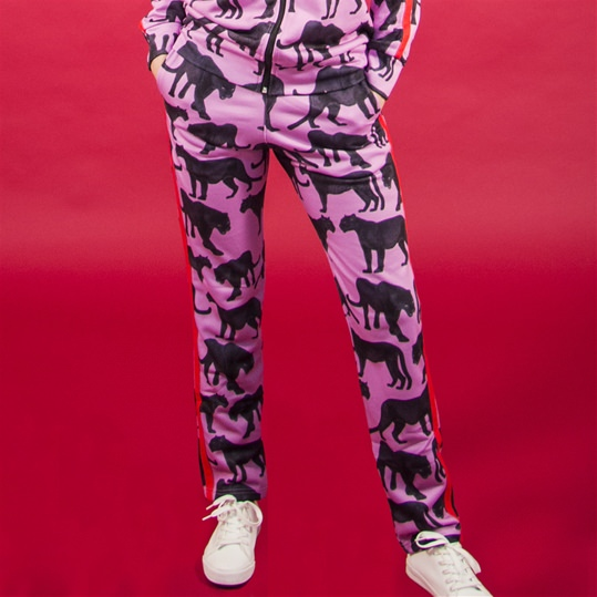 Pink 'Panther' Unisex Tracksuit Bottoms
