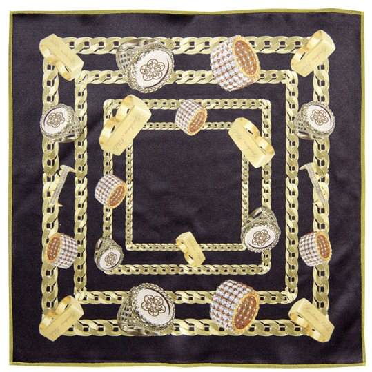 Bling Microfiber Pocket Square