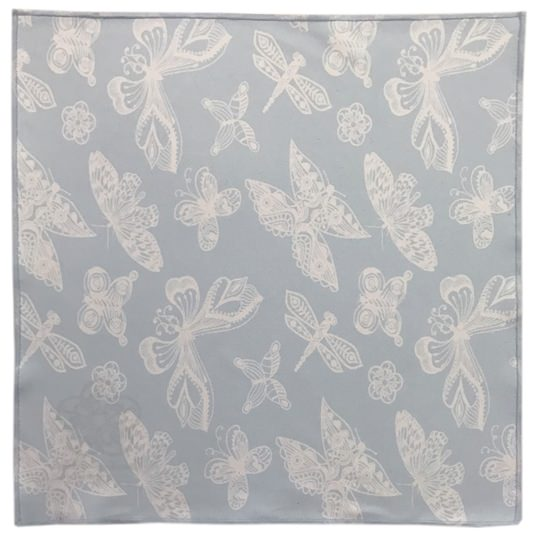 Blue Garden Butterfly Microfiber Pocket Square