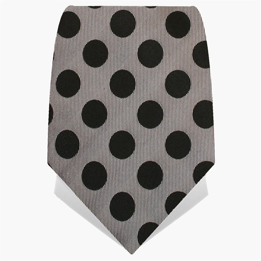 Silver & Black Spotted Tie