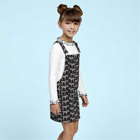 Zebra Pinafore Dress