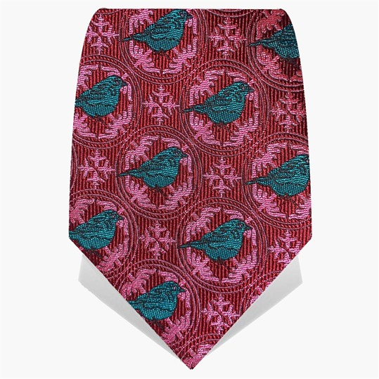 Red & Turquoise Blue Tit Tie