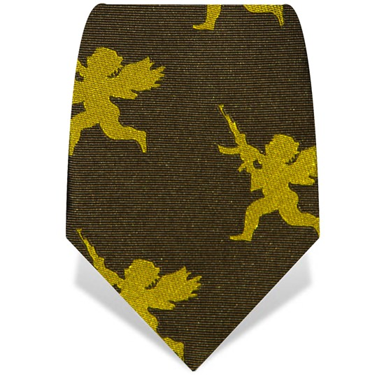 Yellow and Green Cherub Tie