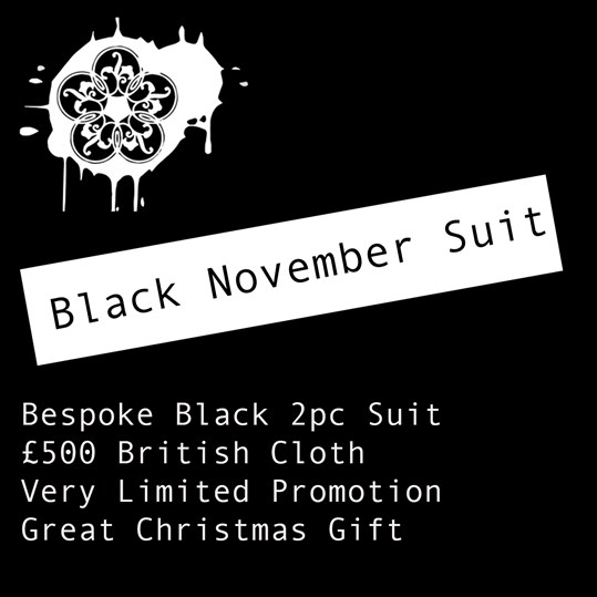 BLACK NOVEMBER BESPOKE SUIT