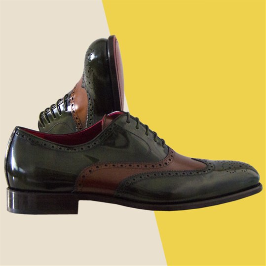 Green and Brown Brogue