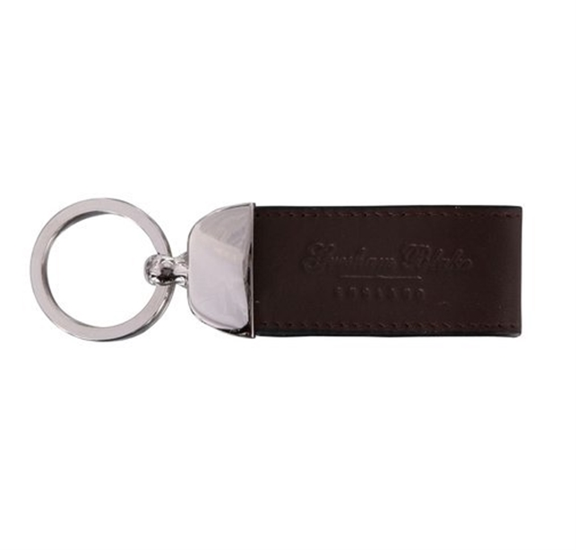 Brown Leather Keyring e843a1b8d037