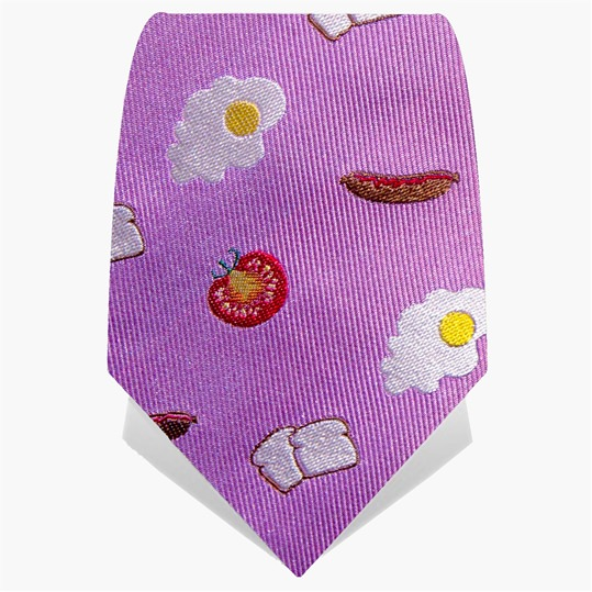 Lilac Big Breakfast Tie