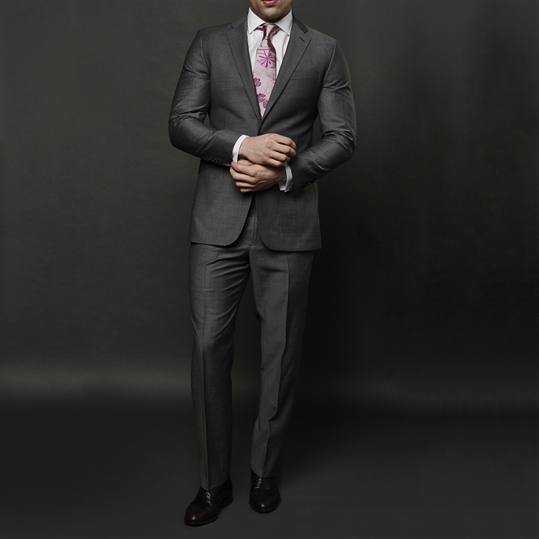 Grey Mohair 2 Piece Suit