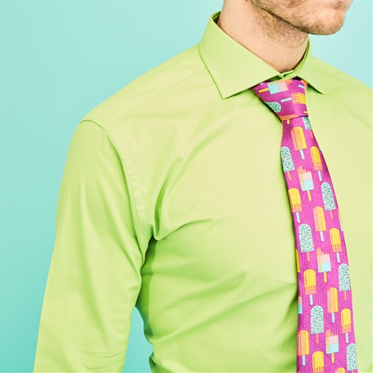 Lime Green Double Cuff Shirt