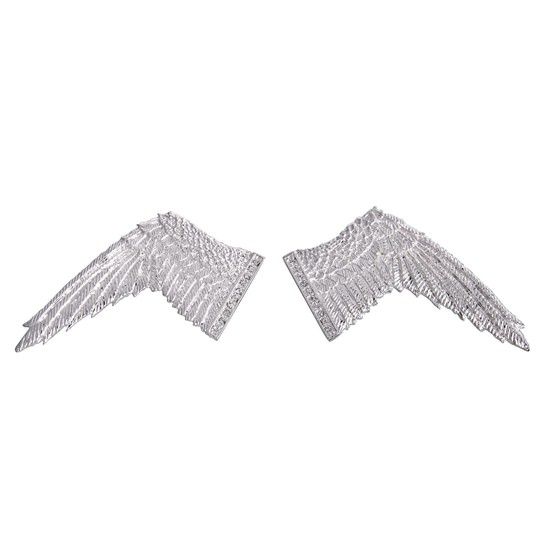 Silver Wing Gem Cufflinks