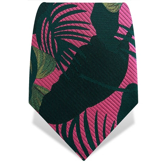 Pink & Green Palm Tie