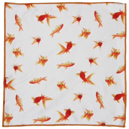 Goldfish Microfiber Pocket Square