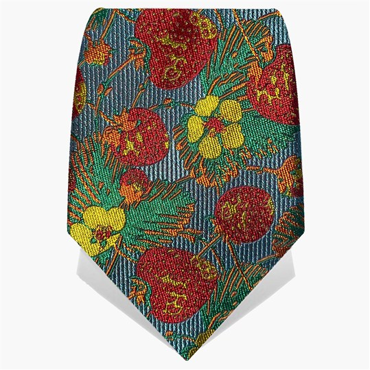 Yellow & Red Strawberries Tie