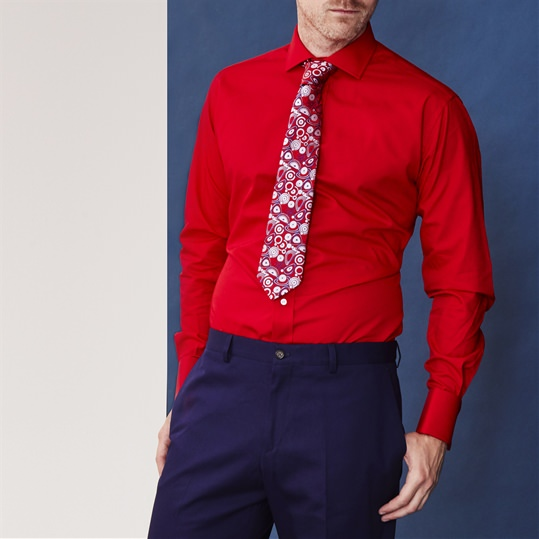 Red Double Cuff Shirt
